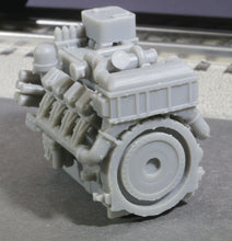 Load image into Gallery viewer, O Scale 1380HP V8 Diesel Turbocharged Aftercooled Industrial Engine Model GREY