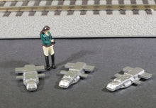 Load image into Gallery viewer, S Scale 1:64 GRS Model 5A Model Railroad Switch Motor Models 3-Pack METALLIC