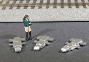 S Scale 1:64 GRS Model 5A Model Railroad Switch Motor Models 3-Pack METALLIC