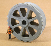 Load image into Gallery viewer, HO Scale Massive Bethlehem Steel Geared Pulley Well car Load Grey