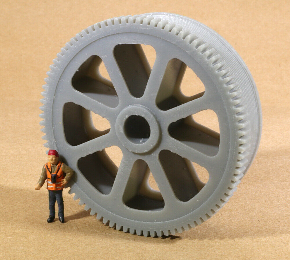 HO Scale Massive Bethlehem Steel Geared Pulley Well car Load Grey