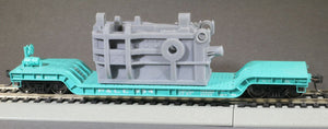 HO Scale United Engineering 8in Upsetter Forge Casting Base Model Flatcar Load