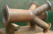 Load image into Gallery viewer, S 1:64 Scale Massive Welded 4-Way Pipe Junction Model