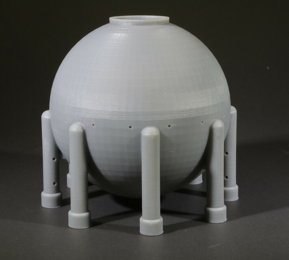 N Scale LNG Liquid Natural Gas Spherical Tank for Model Railroad Layout