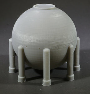Z Scale Spherical LNG Liquid Natural Gas Tank for Model Railroad Chemical Plant