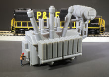 Load image into Gallery viewer, HO Scale 138kV High Tension Electric Power Transformer Model Railroad Scenery