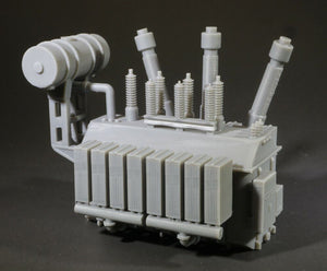 HO Scale 138kV High Tension Electric Power Transformer Model Railroad Scenery