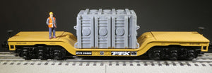 "O Scale High Voltage Transformer base ""Atchison"" for Model Railroad Flatcar Load Grey"