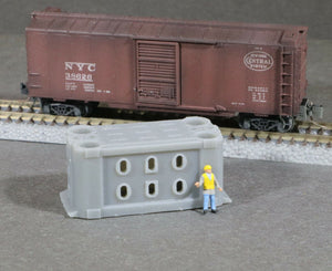 Z Scale Mesta Huge Forging Press Ram Beam Flat Car Load Grey
