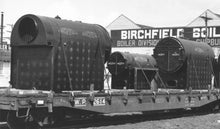 Load image into Gallery viewer, S Scale Birchfield Industrial Fire Tube Boiler Flatcar Load