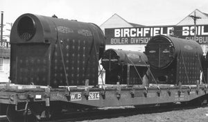 S Scale Birchfield Industrial Fire Tube Boiler Flatcar Load