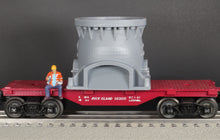 Load image into Gallery viewer, O Scale Allis Chalmers Gyratory Rock Crusher Base Model Railroad Flatcar Load