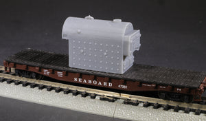 N Scale Kewanee Type C Industrial Fire Tube Boiler Flatcar Load