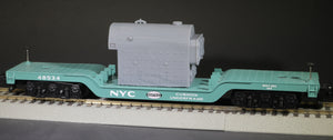 S Scale Kewanee Type C Industrial Fire Tube Boiler Flatcar Load