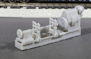 N Scale Mesta Machine Enclosed Headstock Roll Turning Lathe Flatcar Load Model