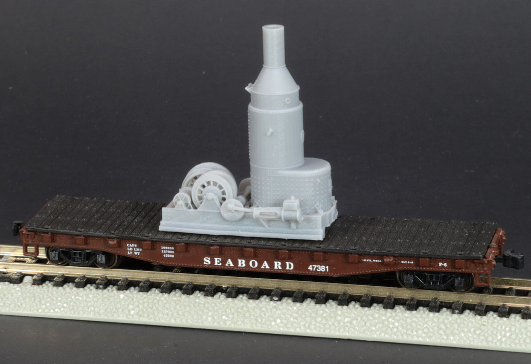 N Scale Willamette Iron & Steel Works Steam Donkey Logging Engine