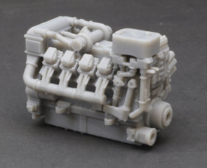 S Scale 1380HP V8 Diesel Turbocharged Aftercooled Industrial Engine Model Grey