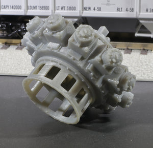 S Scale 1655HP Nordberg 11cyl Industrial Radial Engine Load Grey