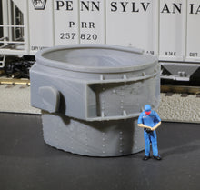 Load image into Gallery viewer, S Scale Massive Bethlehem Steel Ladle Railroad Flatcar Well car Load