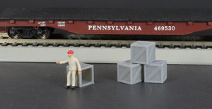 HO Scale Wooden Crate Models - 7-Pack Model Railroad Load