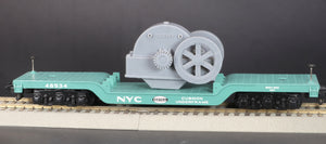 S Scale Loewy Gearbox Flywheel Flatcar Load Grey