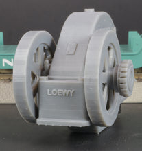 Load image into Gallery viewer, S Scale Loewy Gearbox Flywheel Flatcar Load Grey