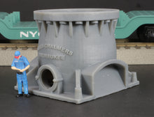 Load image into Gallery viewer, S Scale Allis Chalmers Gyratory Rock Crusher Base Model Railroad Flatcar Load