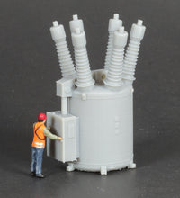 Load image into Gallery viewer, HO Scale 115kV Oil Circuit Breaker Electric Substation Model