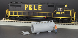 HO Scale 1962 General Electric Turboencabulator Flatcar Load