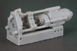 HO Scale Loewy Hydropress Horizontal Hydraulic Extrusion Press Flatcar Load