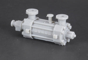 N Scale Modular High-Pressure Stage Casing Pump Flatcar Load