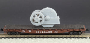 N Scale Loewy Gearbox Flywheel Flatcar Load Grey