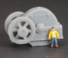 Load image into Gallery viewer, N Scale Loewy Gearbox Flywheel Flatcar Load Grey