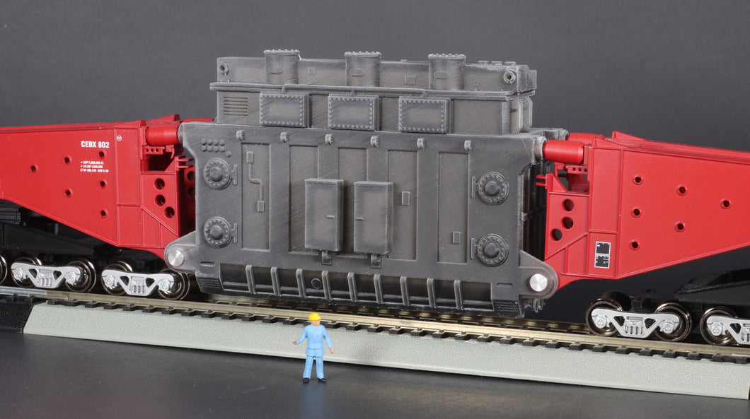 HO Scale BBC High Voltage Transformer Base for Bachmann Schnabel Car