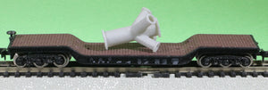 N Scale Massive Welded 4-Way Pipe Junction Model Railroad Flatcar Load