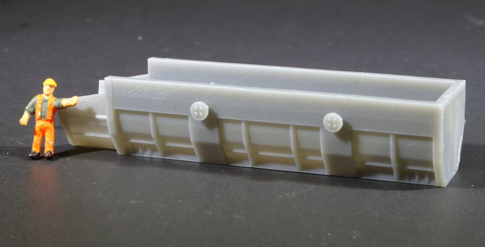 N Scale Czech Steel Mill BOF Charging Box Model Railroad Flatcar Load