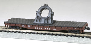N Scale Bethlehem Steel Cast Angled Bearing Model Railroad Flatcar Load BLACK