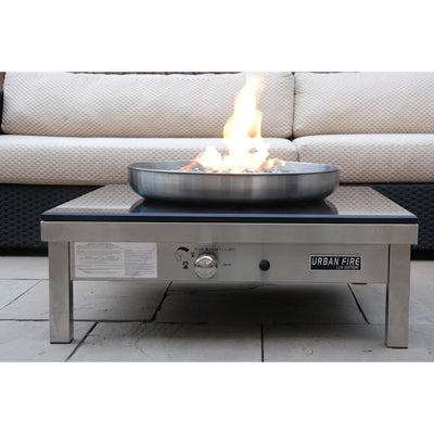 Urban Fire -2- LUX Outdoor fire place - Antique Brown