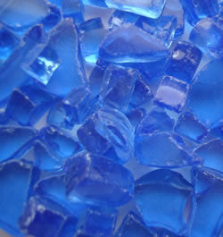 Cobalt Blue Fire Glass