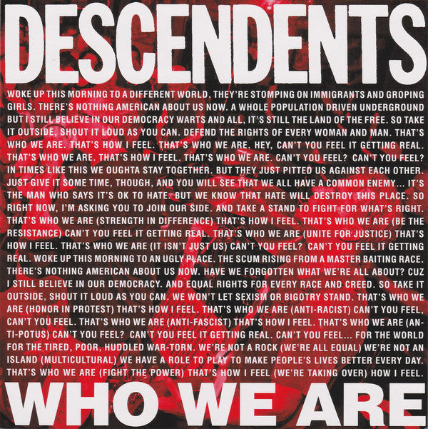 Descendents ‎– Who We Are | 7