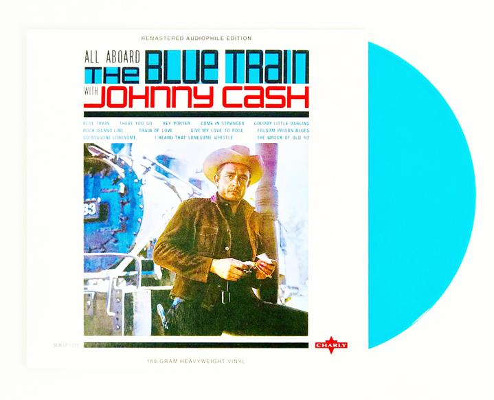 Johnny Cash - All Aboard The Blue Train | Edición Limitada Vinyl Azul