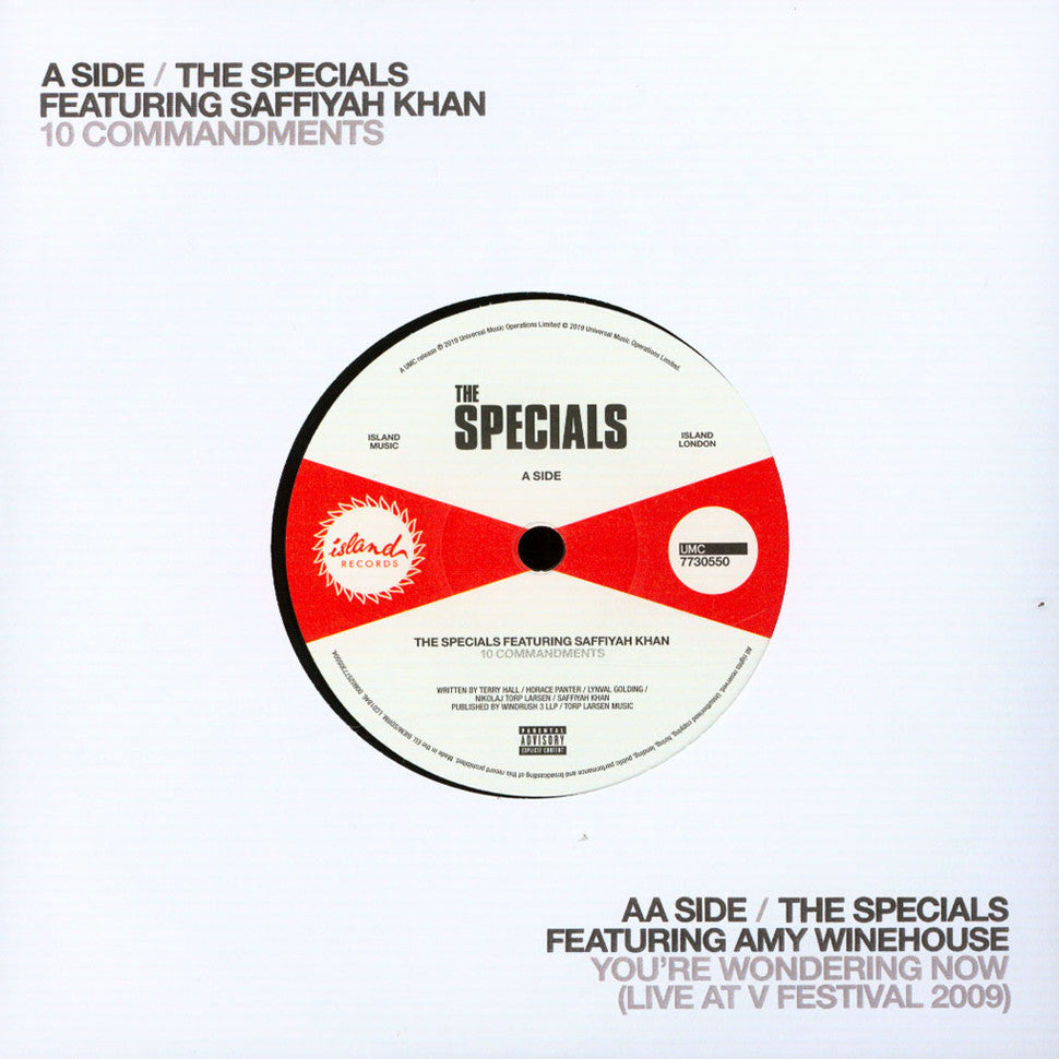 The Specials - Commandments Ft. Saffiyah Khan  / You're Wondering Now Ft. Amy Winehouse | Vinyl 10