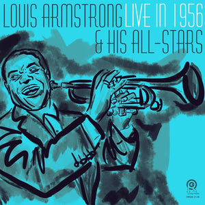 Louis Armstrong & His All-Stars ‎– Live in 1956 (Allentown, PA) | Vinyl Color Azul Edición Limitada [RBF19]