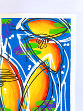 Load image into Gallery viewer, Intuitive Painting On Paper, Contemporary Blue and Yellow Painting on Paper