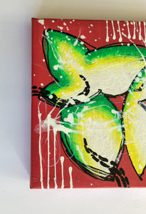 """If you're waiting for a sign this is it 2"" Intuitive Painting On Canvas, Acrylic Small Floral Painting"