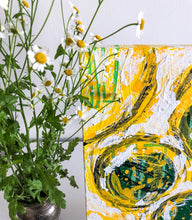 "Load image into Gallery viewer, ""Yellow and white"" Expressionism Painting on Canvas, Yellow and white painting"