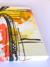 "Load image into Gallery viewer, ""Work on you, work for you"" Abstract Expressionism Painting on Canvas, Orange and Yellow Painting"