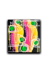 Abstract Expressionism Painting on Canvas, Black Painting, Black Small Painting
