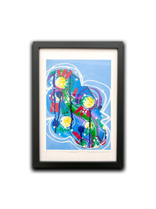 """Do it for you I "" Framed Art Painting,  Intuitive abstract painting on paper"