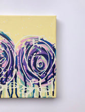 "Load image into Gallery viewer, ""Yesterday is heavy. Put it down"" Pair of original abstract paintings, Set of 2 Floral painting on canvas"
